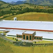 Visão aérea da nossa fábrica e centro de distribuição em Extrema (MG)