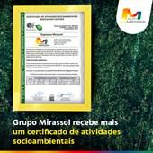 Certificado de Ações Socioambientais 2020.